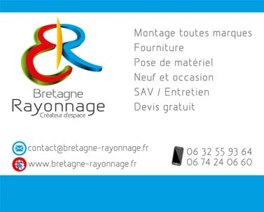 Infographiste : Plaque PVC A4 Bretagne rayonnage